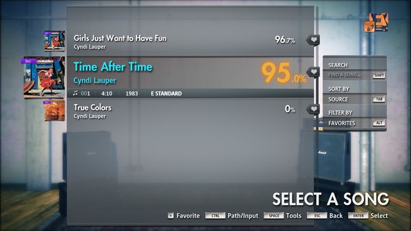 """Скриншот №4 к Rocksmith® 2014 Edition – Remastered – Cyndi Lauper - """"Time After Time"""""""