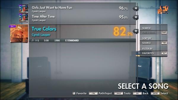 """Скриншот №3 к Rocksmith® 2014 Edition – Remastered – Cyndi Lauper - """"True Colors"""""""
