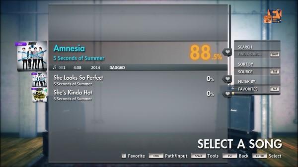 """Скриншот №2 к Rocksmith® 2014 Edition – Remastered – 5 Seconds of Summer - """"Amnesia"""""""