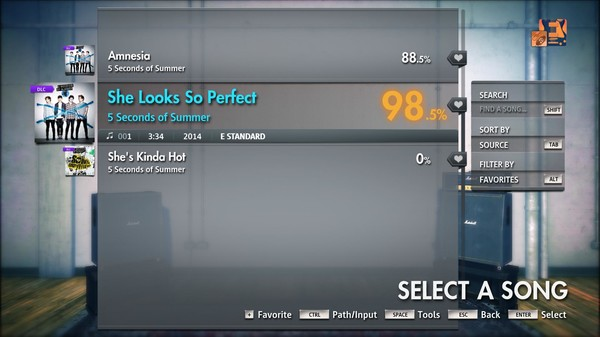 """Скриншот №1 к Rocksmith® 2014 Edition – Remastered – 5 Seconds of Summer - """"She Looks So Perfect"""""""