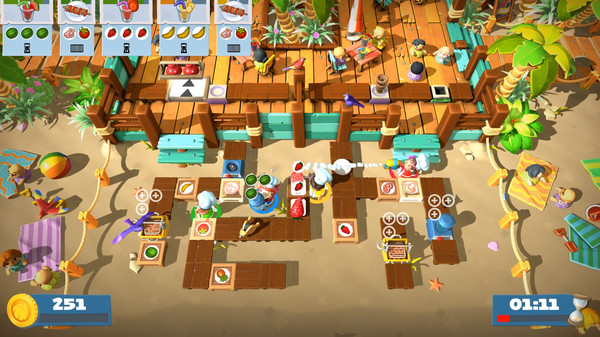 Скриншот №4 к Overcooked! 2 - Surf n Turf