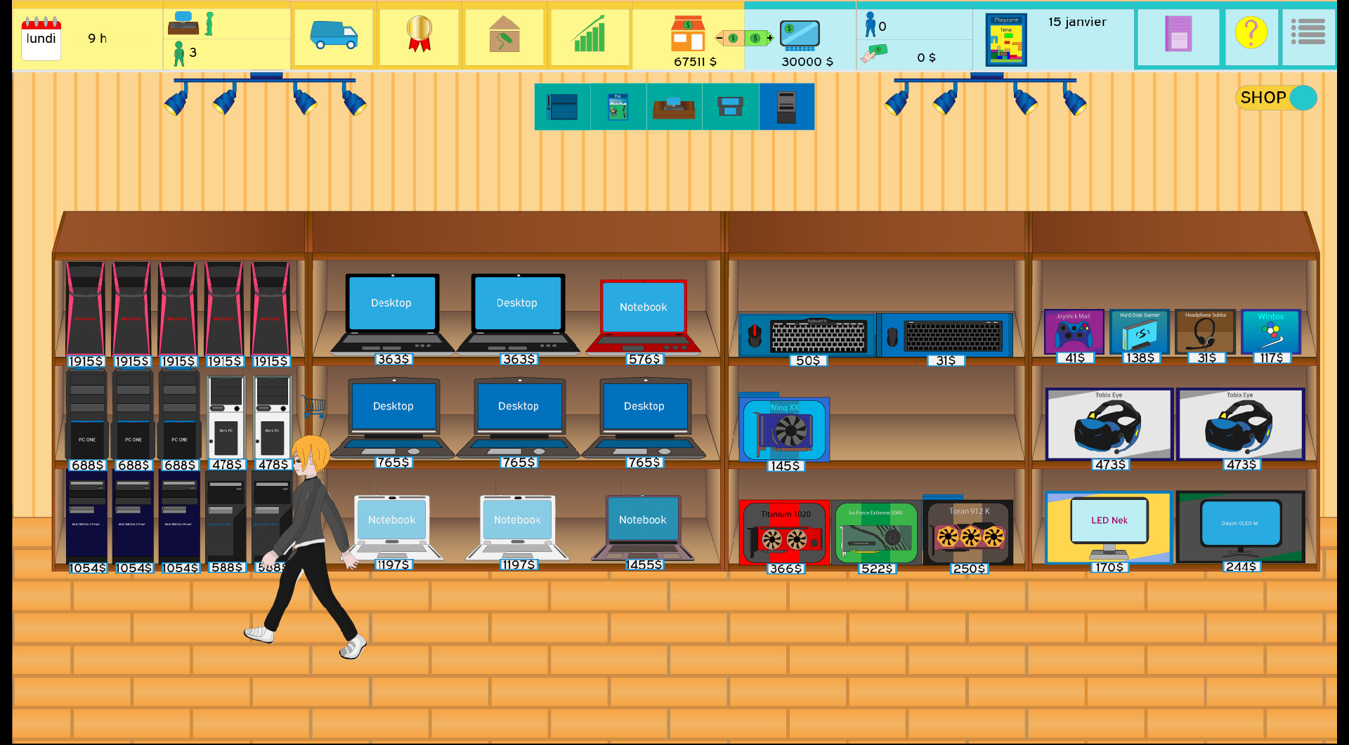 Economize 10 Em Shop Manager Video Game Tycoon No Steam