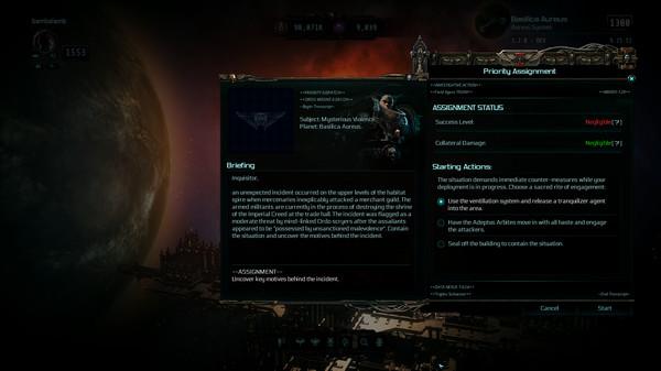 Скриншот №1 к Warhammer 40000 Inquisitor - Martyr - Mind Plague