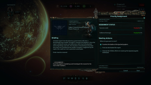 Скриншот №2 к Warhammer 40000 Inquisitor - Martyr - Discordant Choir