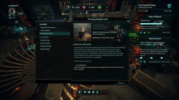 Скриншот №3 к Warhammer 40000 Inquisitor - Martyr - Discordant Choir
