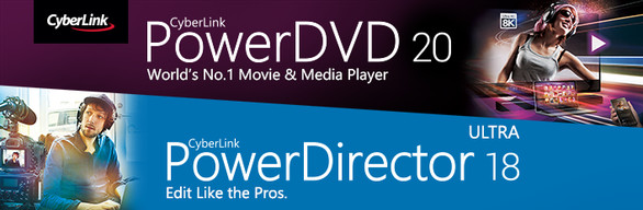 CyberLink PowerDVD 20 Ultra + PowerDirector 18 Ultra