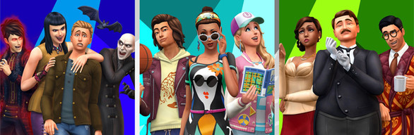 The Sims™ 4 Bundle - City Living, Vampires, Vintage Glamour Stuff