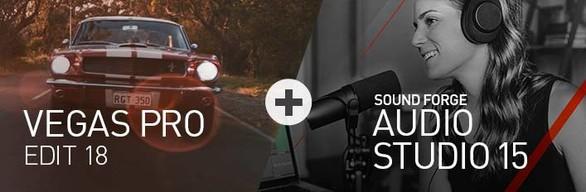 VEGAS Pro 18 Edit + SOUND FORGE Audio Studio 15