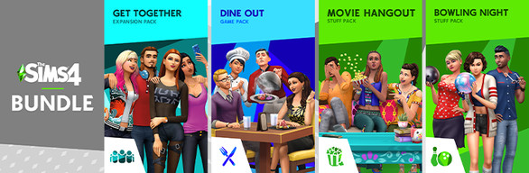 The Sims™ 4 Sims' Night Out Bundle — Get Together, Dine Out, Movie Hangout Stuff, Bowling Night Stuff