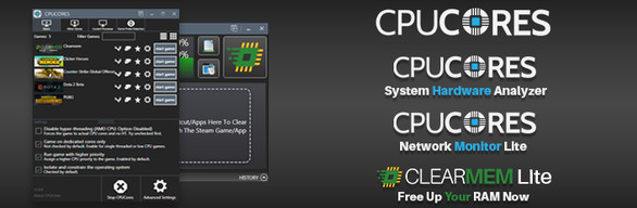 CPUCores Deluxe Edition (CPUCores + ClearMem Lite + System Hardware Analyzer + Network Monitor Lite)