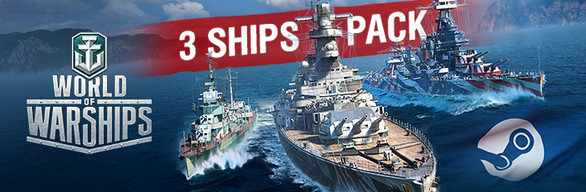World of Warships — 3 Ships Pack